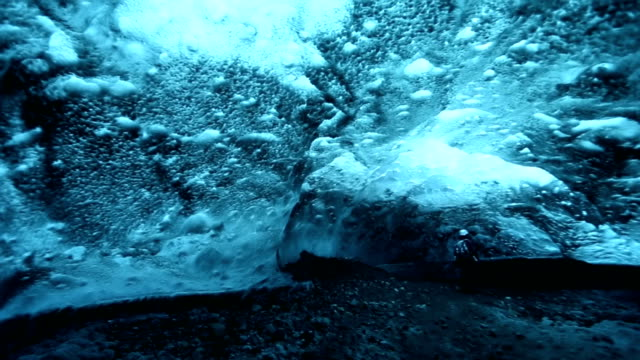 HD Time Lapse : ice caves in Iceland