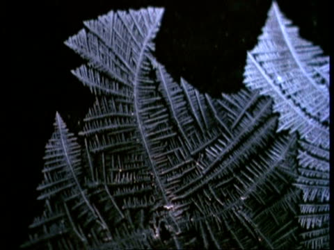 CU time lapse ice crystals forming