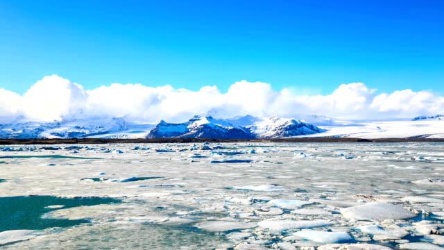 hd time lapse : icebergs at jokulsarlon. iceland - full hd format stock videos & royalty-free footage