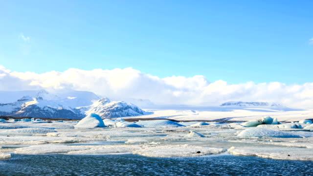 HD Time Lapse : Icebergs at Jokulsarlon. Iceland