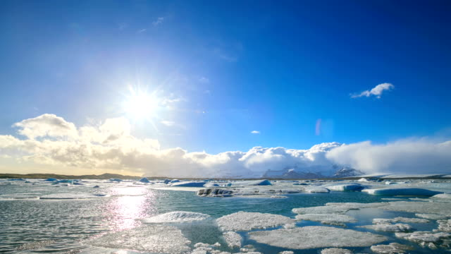 hd time lapse : icebergs at jokulsarlon. iceland - icecap stock videos and b-roll footage