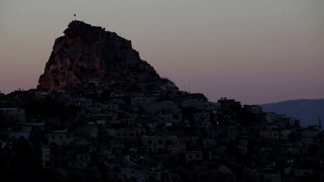 time lapse in cappadocia uchisar - selimaksan stock videos & royalty-free footage