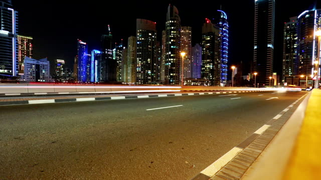 Time Lapse in Dubai with street traffic