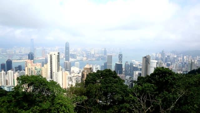 vidéos et rushes de laps de temps à hong kong - victoria peak