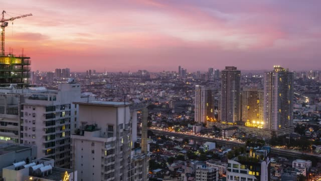 time lapse in manila at dusk - philippines stock videos & royalty-free footage