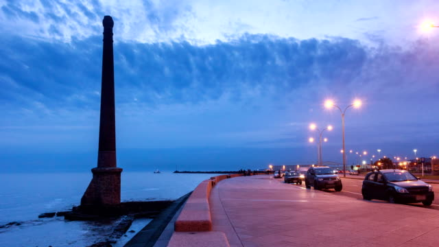 "stockvideo's en b-roll-footage met time lapse in ""montevideo's rambla"", uruguay - uruguay"