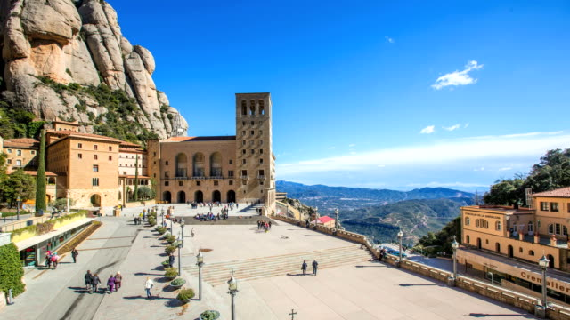 time lapse in montserrat - monastery stock videos & royalty-free footage