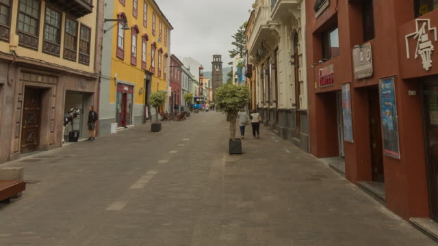 4K Time lapse in one of the old streets of the UNESCO world heritage site of La Laguna, Tenerife