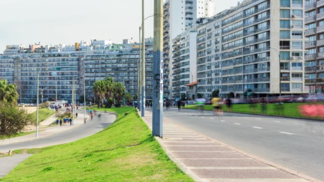 Time lapse in Pocitos neighbourhood, Montevideo, Uruguay