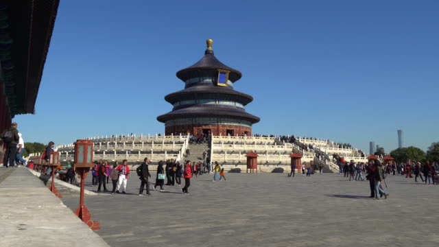 time lapse in temple of heaven in beijing, china - temple of heaven stock videos & royalty-free footage