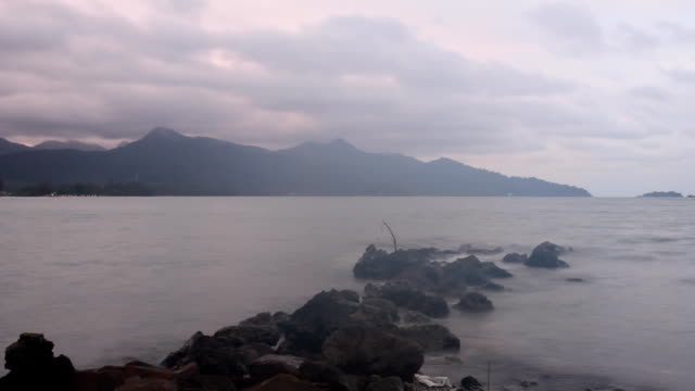 time lapse in the morning at koh chang,trat,thailand. - koh chang stock videos and b-roll footage