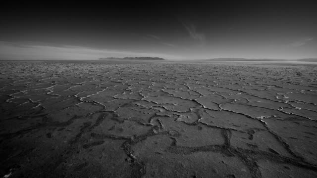 time lapse in the salt flats, bonneville utah - bonneville salt flats stock videos and b-roll footage