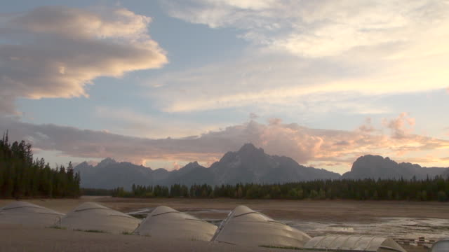 time lapse: inverted boats at grand teton national park - grand teton national park stock videos & royalty-free footage