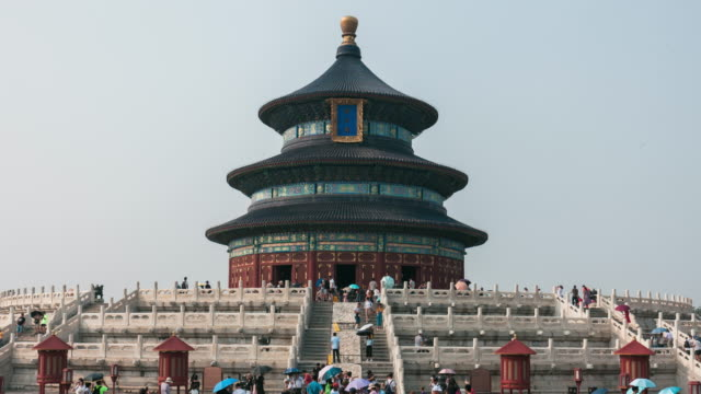 Time lapse TD of large crowds at Temple of Heaven