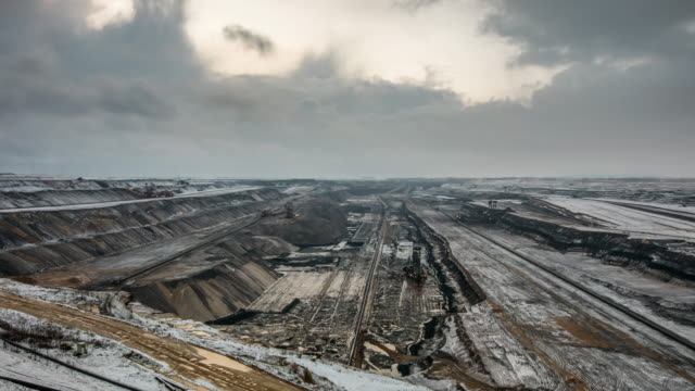 time lapse:  lignite surface mine - open cast mine stock videos & royalty-free footage