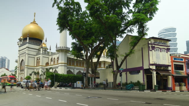 time lapse little india street view, singapore - building entrance stock videos & royalty-free footage