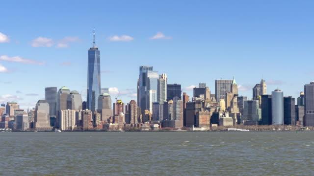 4k uhd time lapse : lower manhattan von new york city. - high dynamic range imaging stock-videos und b-roll-filmmaterial
