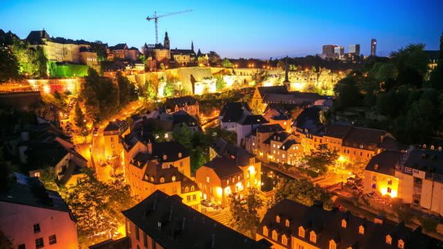 vidéos et rushes de effet time-lapse 4k : luxembourg - grand duché du luxembourg