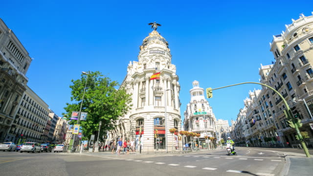 Lapso de tiempo en 4K : Madrid Gran vía