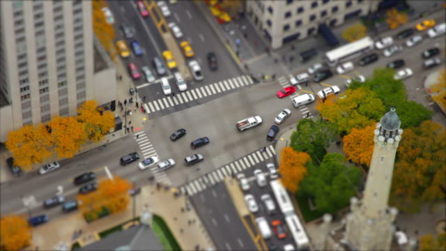 Time lapse miniature city with traffic