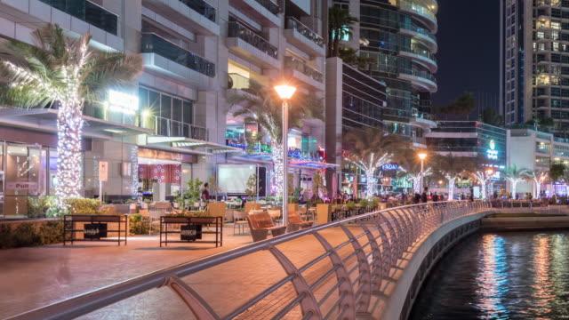 Time Lapse Modern skycrapers in Dubai marina