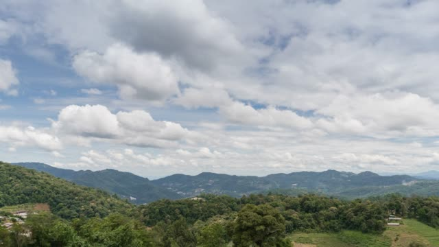 time lapse mountain and cloud - satoyama scenery stock videos and b-roll footage