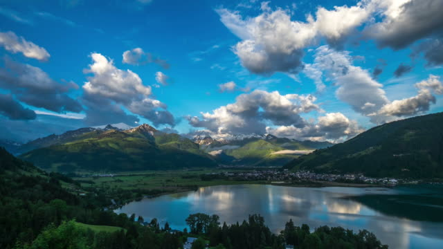 time lapse : mountain nature and clouds - mountain range stock videos & royalty-free footage