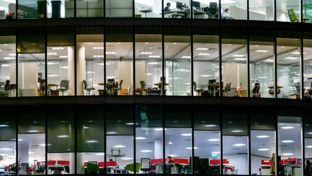 4k time lapse, movement of business people in office building zone, london, england - composite image stock videos & royalty-free footage
