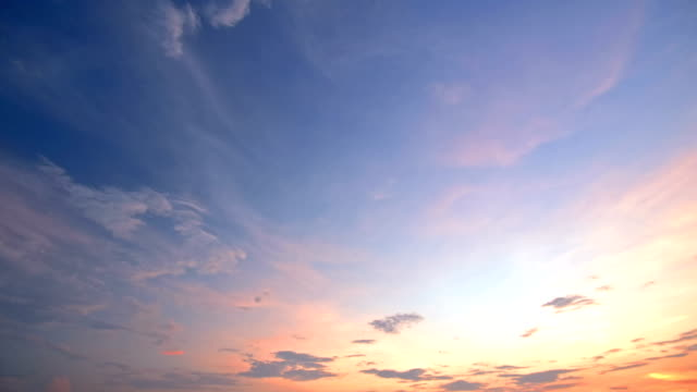 4k time lapse: moving cloud at sunset - high dynamic range imaging stock videos & royalty-free footage