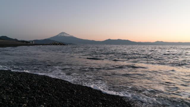 Time lapse Mt.Fuji and sea in Shizuoka,Japan