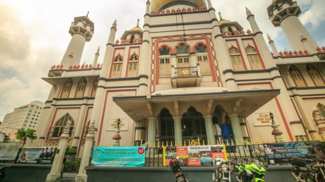 4k time lapse : musjid sultan arab - sultan stock videos and b-roll footage