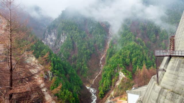 Time Lapse nature view at Kurobe Dam, toyama, japan