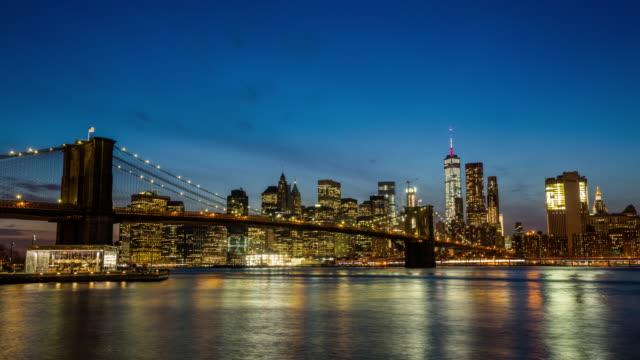 Zeitraffer : Skyline von New York City