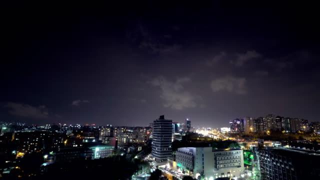 4 k 解像度時間経過の夜市 - レプリカ点の映像素材/bロール