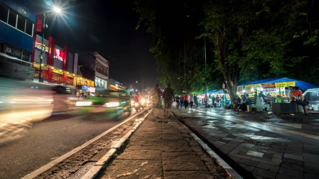 4K Time Lapse : Night market in Yogyakarta