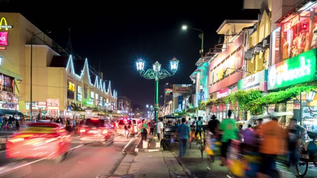 time lapse : night market in yogyakarta - jakarta stock videos & royalty-free footage