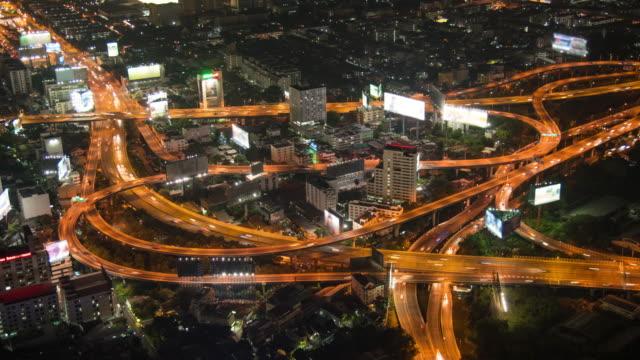 4 K Zeitraffer: Nacht der Verkehr In Bangkok, Thailand
