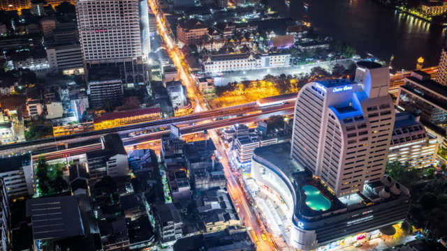 Time Lapse - Night Traffic in Bangkok