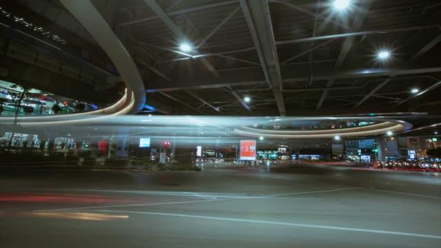 time- lapse, night traffic long exposure on road, bangkok thailand. - shutter stock videos & royalty-free footage