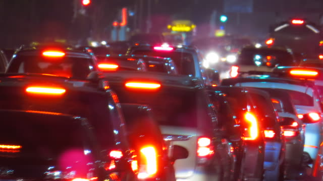 beverly hills traffic jam time lapse night - tail light stock videos & royalty-free footage