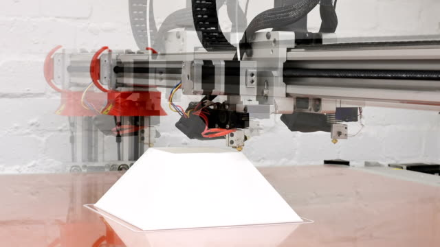 A time lapse of a 3D printer in action