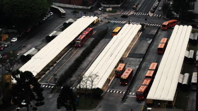 Time lapse of a bus terminal / Curitiba - Brazil