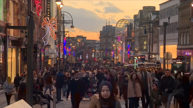 Time Lapse of a busy high street in Leeds