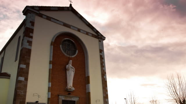 tuscany - circa 2012: time lapse of a church - prato stock videos and b-roll footage
