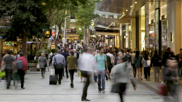 time lapse of a crowd in a mall - high street stock videos & royalty-free footage