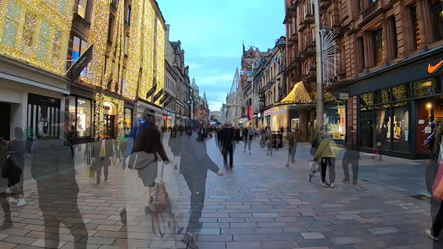 time lapse of a high street in glasgow during christmas - mass stock videos & royalty-free footage
