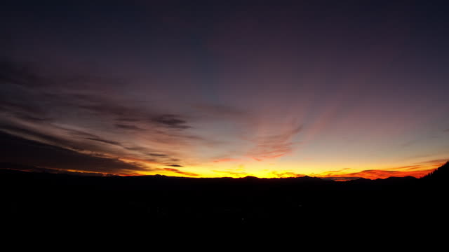 Time lapse of a sunrise over an Idaho valley