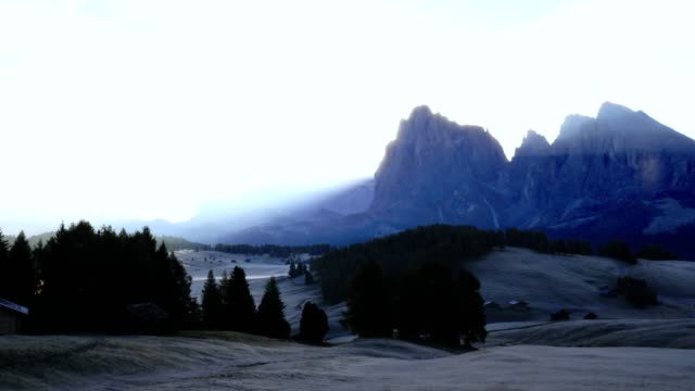 time lapse of alpe di siusi - dolomites / south tyrol - italy - scilia stock videos & royalty-free footage