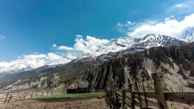 time lapse of annapurna mountains, himalaya, nepal - annapurna range stock videos and b-roll footage