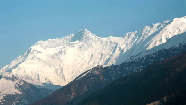time lapse of annapurna mountains, himalaya, nepal - annapurna range stock videos and b-roll footage